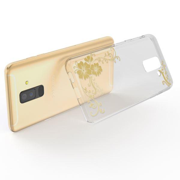 NALIA Handyhülle kompatibel mit Samsung Galaxy A6 Plus, Slim Silikon Motiv Case Schutzhülle Dünn Durchsichtig, Etui Handy-Tasche Back-Cover Transparent Bumper – Bild 3