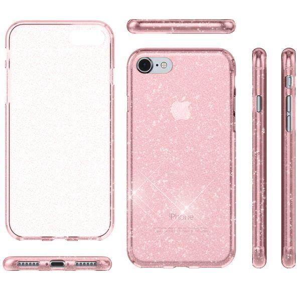 NALIA Glitter Hülle kompatibel mit iPhone 8 / 7, Glitzer Handyhülle Slim Silikon Handy Case Back-Cover Schutz-Hülle, Sparkle Handy-Tasche Bumper, Dünnes Bling Strass Etui – Bild 25