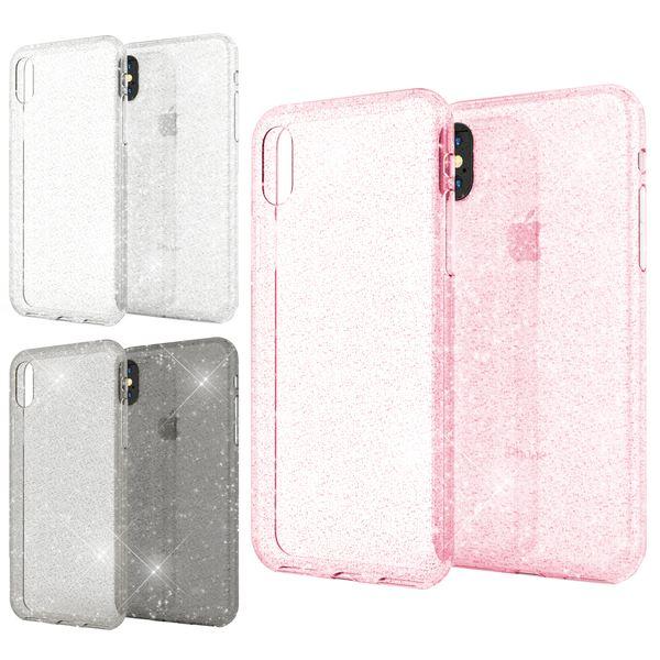 NALIA Handyhülle kompatibel mit iPhone X XS, Glitzer Hülle Ultra-Slim Silikon-Case Back-Cover Schutzhülle, Glitter Sparkle Handy-Tasche Bumper, Dünnes Bling Strass  Etui – Bild 1