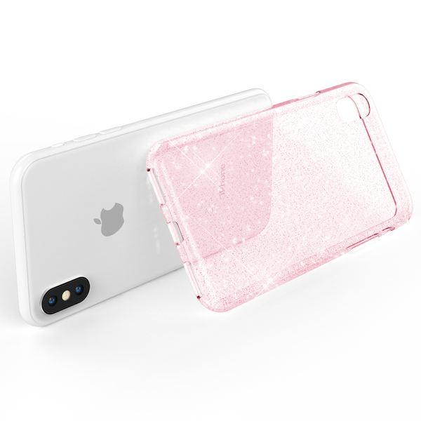 NALIA Handyhülle kompatibel mit iPhone X XS, Glitzer Hülle Ultra-Slim Silikon-Case Back-Cover Schutzhülle, Glitter Sparkle Handy-Tasche Bumper, Dünnes Bling Strass  Etui – Bild 17