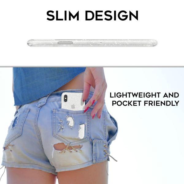 NALIA Handyhülle kompatibel mit iPhone X XS, Glitzer Hülle Ultra-Slim Silikon-Case Back-Cover Schutzhülle, Glitter Sparkle Handy-Tasche Bumper, Dünnes Bling Strass  Etui – Bild 8