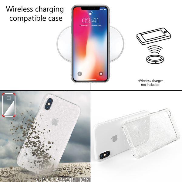 NALIA Handyhülle kompatibel mit iPhone X XS, Glitzer Hülle Ultra-Slim Silikon-Case Back-Cover Schutzhülle, Glitter Sparkle Handy-Tasche Bumper, Dünnes Bling Strass  Etui – Bild 21