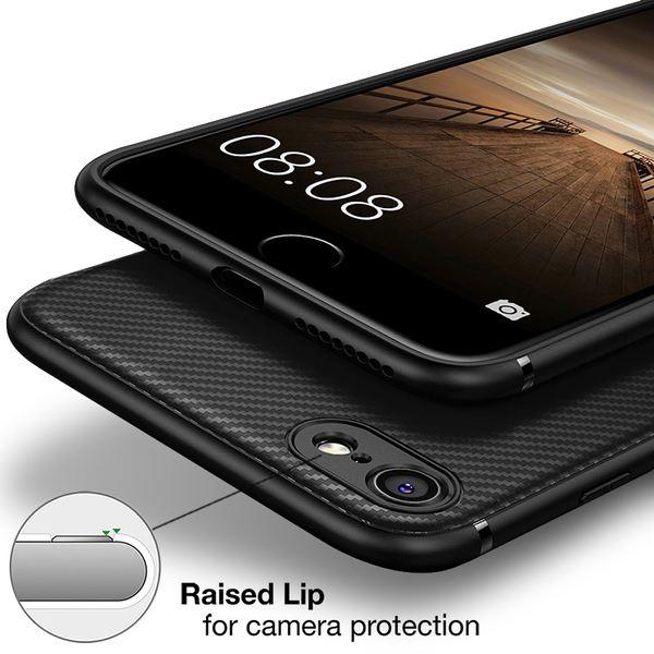 NALIA Handyhülle kompatibel mit iPhone 7 / 8, Slim Hülle Silikon Case Cover, Dünne Carbon Look Premium Schutz-Hülle, Etui Handy-Tasche Back-Cover Bumper, TPU Gummihülle – Bild 13