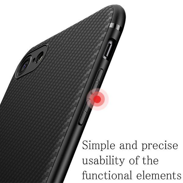 NALIA Handyhülle kompatibel mit iPhone 7 / 8, Slim Hülle Silikon Case Cover, Dünne Carbon Look Premium Schutz-Hülle, Etui Handy-Tasche Back-Cover Bumper, TPU Gummihülle – Bild 7