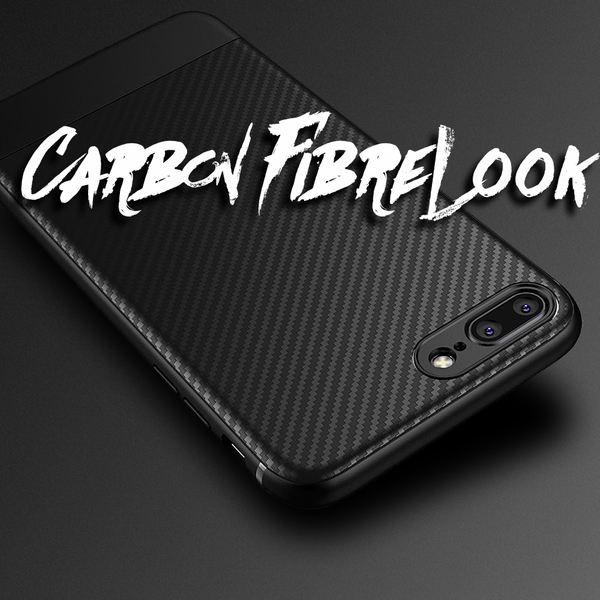 NALIA Hülle kompatibel mit iPhone 8 Plus / 7 Plus, Ultra Slim Handyhülle Silikon Case Cover, Dünne Carbon Look Schutzhülle, Etui Handy-Tasche Backcover Bumper Gummihülle – Bild 15