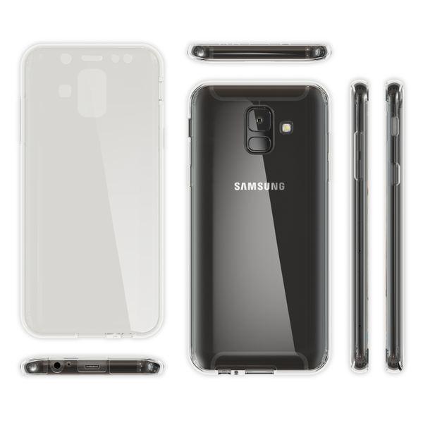 NALIA 360 Grad Hülle kompatibel mit Samsung Galaxy A6, Full Cover Handyhülle vorne & hinten Rundum Doppel-Schutz, Dünnes Silikon Etui Case Transparenter Displayschutz & Rückseite – Bild 14