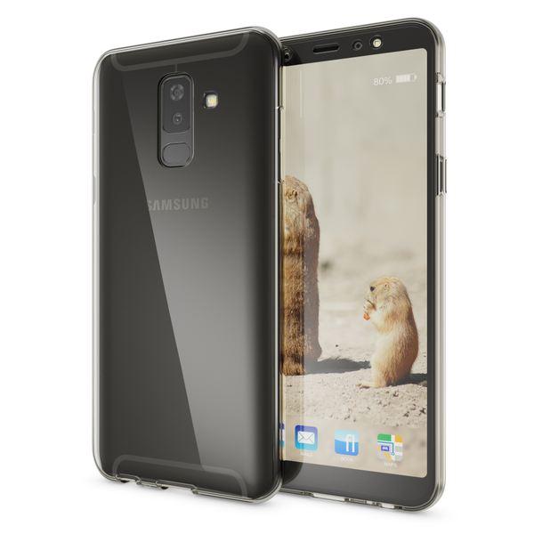 NALIA 360 Grad Hülle kompatibel mit Samsung Galaxy A6 Plus, Handyhülle Full Cover hinten Rundum Doppel-Schutz, Dünnes Silikon Etui Case, Transparenter Displayschutz & Rückseite – Bild 4