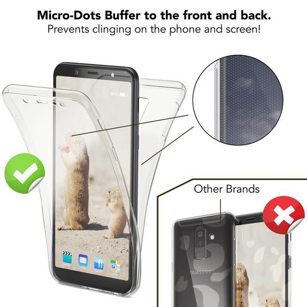 NALIA 360 Grad Hülle kompatibel mit Samsung Galaxy A6 Plus, Handyhülle Full Cover hinten Rundum Doppel-Schutz, Dünnes Silikon Etui Case, Transparenter Displayschutz & Rückseite – Bild 19