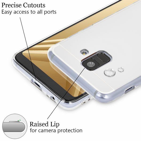 NALIA Spiegel Hülle kompatibel mit Samsung Galaxy A6, Slim Handyhülle Mirror TPU Silikon Case, Dünne Schutzhülle Back-Cover verspiegelt, Handy-Tasche Bumper Smart-Phone Etui – Bild 3