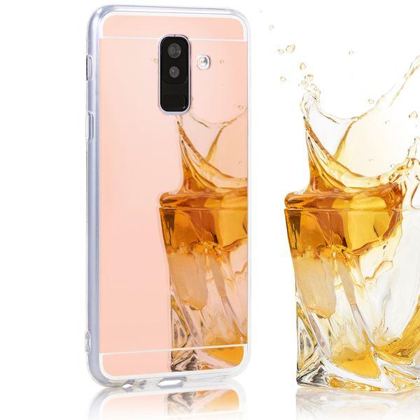 NALIA Spiegel Hülle kompatibel mit Samsung Galaxy A6 Plus, Ultra-Slim Cover Handyhülle Mirror Case TPU Silikon, Dünne Schutzhülle Backcover verspiegelt Handy-Tasche Bumper Phone Etui – Bild 8