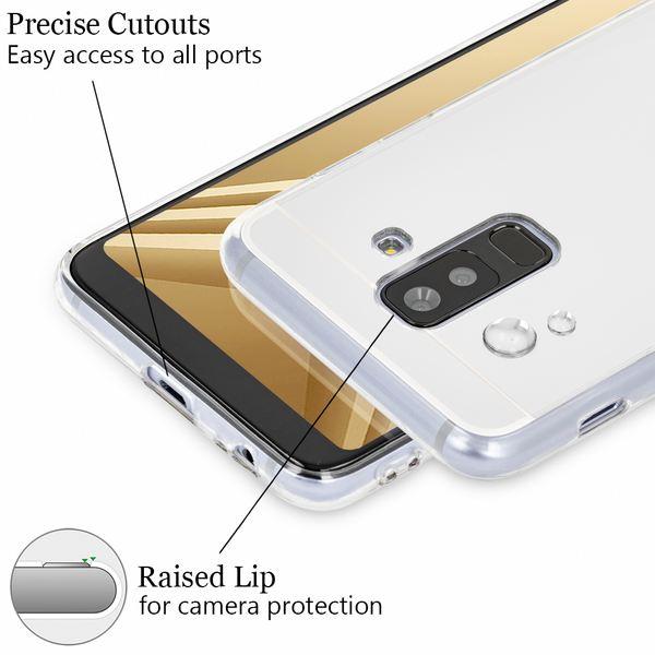 NALIA Spiegel Hülle kompatibel mit Samsung Galaxy A6 Plus, Ultra-Slim Cover Handyhülle Mirror Case TPU Silikon, Dünne Schutzhülle Backcover verspiegelt Handy-Tasche Bumper Phone Etui – Bild 3