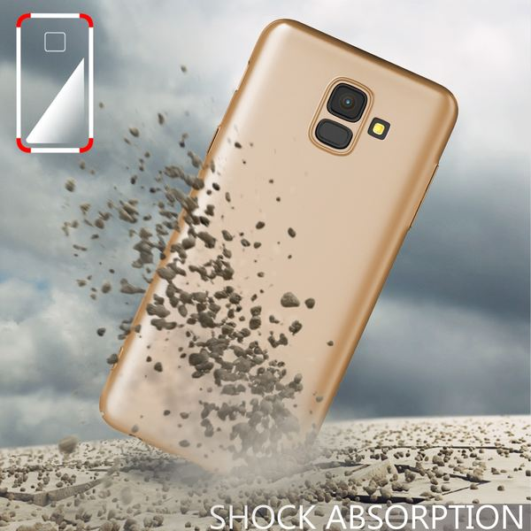 NALIA Hülle kompatibel mit Samsung Galaxy A6, Dünnes Hardcase Handyhülle Schutzhülle Matt, Ultra-Slim Cover Etui Handy-Tasche, Smart-Phone Backcover Skin Bumper Case – Bild 14