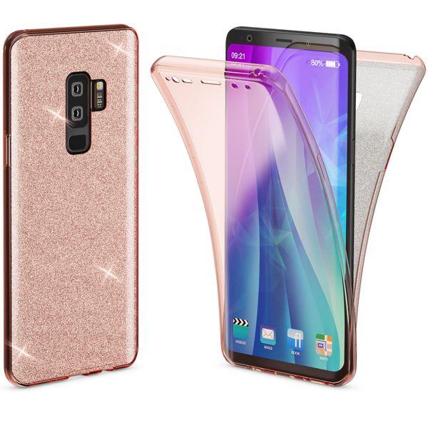 NALIA Glitzer Hülle 360 Grad kompatibel mit Samsung Galaxy S9 Plus, Handyhülle Full Cover vorne hinten Glitter Doppel-Schutz, Dünnes Silikon Case Transparente Display- & Rückseite – Bild 23