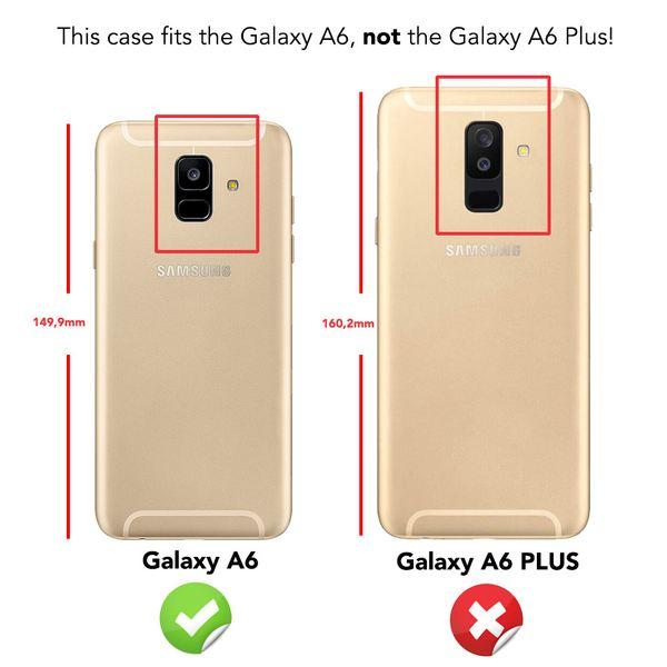 NALIA Glitzer Hülle 360 Grad kompatibel mit Samsung Galaxy A6, Handyhülle Full Cover vorne hinten Rundum Glitter Doppel-Schutz, Dünnes Case Silikon Etui Transparenter Displayschutz – Bild 4