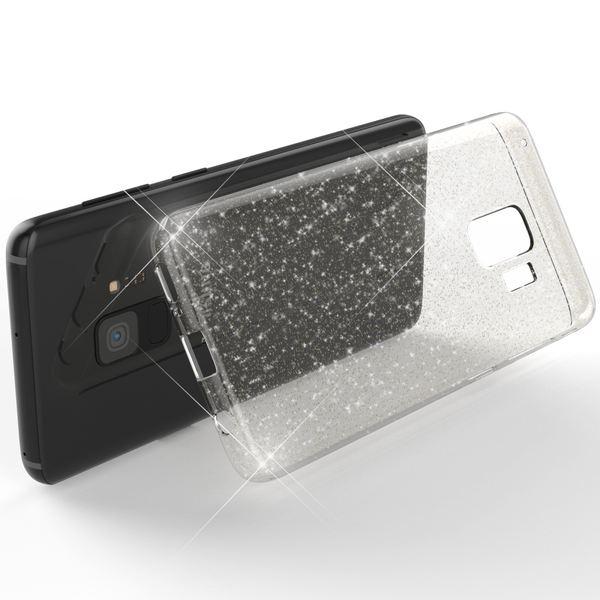 NALIA Glitter Hülle kompatibel mit Samsung Galaxy S9, Glitzer Handyhülle Ultra-Slim Silikon Case Back-Cover Schutz, Bling Sparkle Handy-Tasche Bumper, Dünnes Strass Smartphone Etui – Bild 3