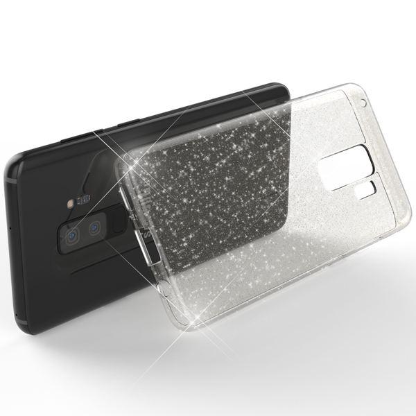 NALIA Glitter Hülle kompatibel mit Samsung Galaxy S9 Plus, Glitzer Handyhülle Ultra-Slim Silikon Case Back-Cover Schutz, Bling Sparkle Handy-Tasche Bumper, Dünnes Strass Phone Etui – Bild 3