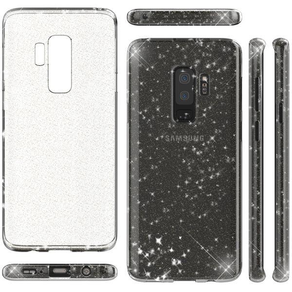 NALIA Glitter Hülle kompatibel mit Samsung Galaxy S9 Plus, Glitzer Handyhülle Ultra-Slim Silikon Case Back-Cover Schutz, Bling Sparkle Handy-Tasche Bumper, Dünnes Strass Phone Etui – Bild 7
