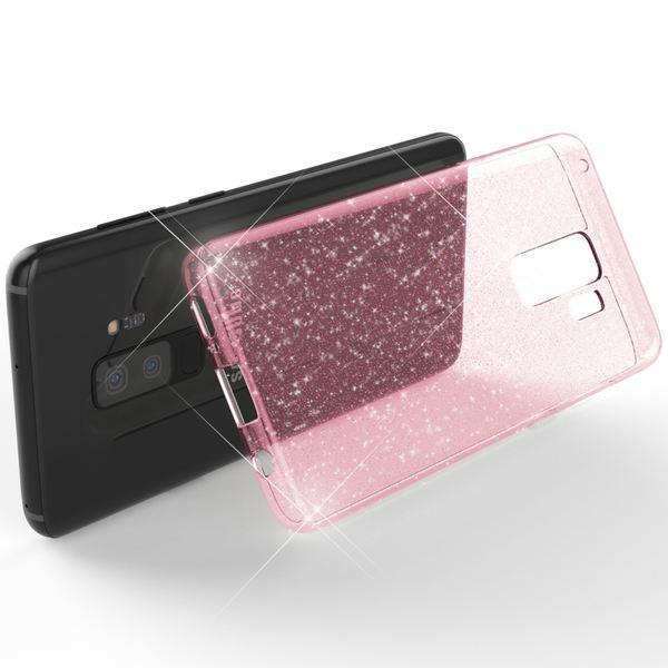 NALIA Glitter Hülle kompatibel mit Samsung Galaxy S9 Plus, Glitzer Handyhülle Ultra-Slim Silikon Case Back-Cover Schutz, Bling Sparkle Handy-Tasche Bumper, Dünnes Strass Phone Etui – Bild 17