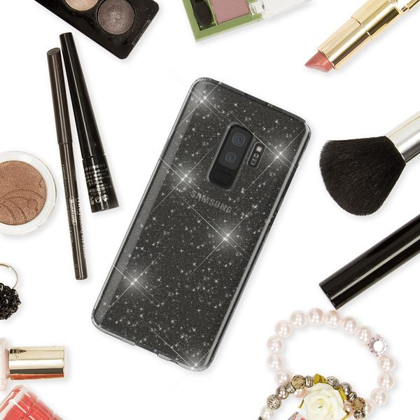 NALIA Glitter Hülle kompatibel mit Samsung Galaxy S9 Plus, Glitzer Handyhülle Ultra-Slim Silikon Case Back-Cover Schutz, Bling Sparkle Handy-Tasche Bumper, Dünnes Strass Phone Etui – Bild 15