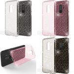 NALIA Glitter Hülle kompatibel mit Samsung Galaxy S9 Plus, Glitzer Handyhülle Ultra-Slim Silikon Case Back-Cover Schutz, Bling Sparkle Handy-Tasche Bumper, Dünnes Strass Phone Etui – Bild 1