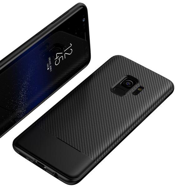 NALIA Handyhülle kompatibel mit Samsung Galaxy S9, Ultra-Slim Soft Silikon Case, Dünne Carbon Look Schutzhülle, Etui Handy-Tasche Back-Cover Bumper, TPU Smart-Phone  Gummihülle – Bild 2