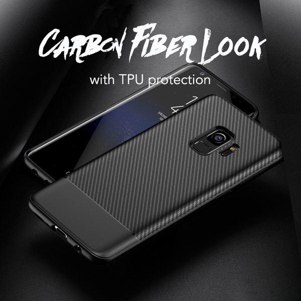 NALIA Handyhülle kompatibel mit Samsung Galaxy S9, Ultra-Slim Soft Silikon Case, Dünne Carbon Look Schutzhülle, Etui Handy-Tasche Back-Cover Bumper, TPU Smart-Phone  Gummihülle – Bild 8