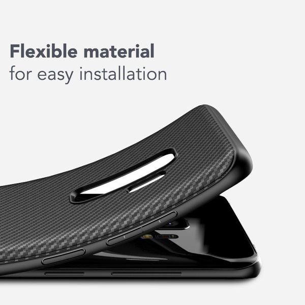 NALIA Handyhülle kompatibel mit Samsung Galaxy S9, Ultra-Slim Soft Silikon Case, Dünne Carbon Look Schutzhülle, Etui Handy-Tasche Back-Cover Bumper, TPU Smart-Phone  Gummihülle – Bild 11