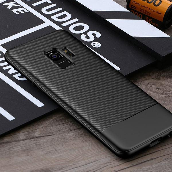 NALIA Handyhülle kompatibel mit Samsung Galaxy S9, Ultra-Slim Soft Silikon Case, Dünne Carbon Look Schutzhülle, Etui Handy-Tasche Back-Cover Bumper, TPU Smart-Phone  Gummihülle – Bild 7