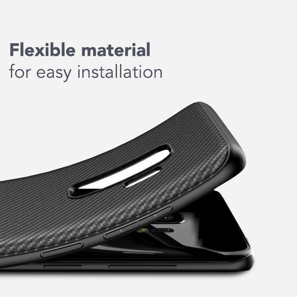 NALIA Handyhülle kompatibel mit Samsung Galaxy S9 Plus, Ultra-Slim Hülle Soft Silikon Case, Dünner Carbon Look Schutz Etui Handy-Tasche Back-Cover Bumper, TPU Smartphone Gummihülle – Bild 3