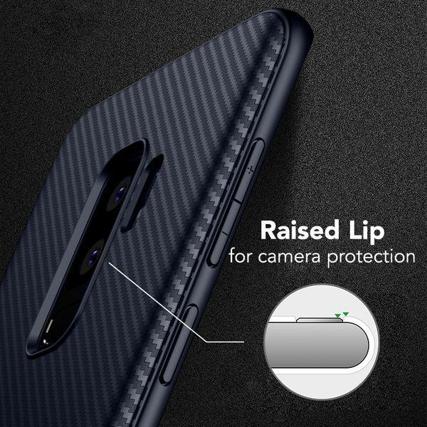 NALIA Handyhülle kompatibel mit Samsung Galaxy S9 Plus, Ultra-Slim Hülle Soft Silikon Case, Dünner Carbon Look Schutz Etui Handy-Tasche Back-Cover Bumper, TPU Smartphone Gummihülle – Bild 11