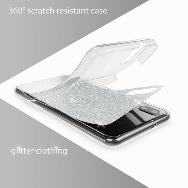 NALIA Glitzer Hülle 360 Grad für Huawei P20, Handyhülle Full Cover vorne hinten Rundum Glitter Doppel-Schutz, Dünnes Ganzkörper Case Silikon Etui, Transparenter Displayschutz – Bild 21