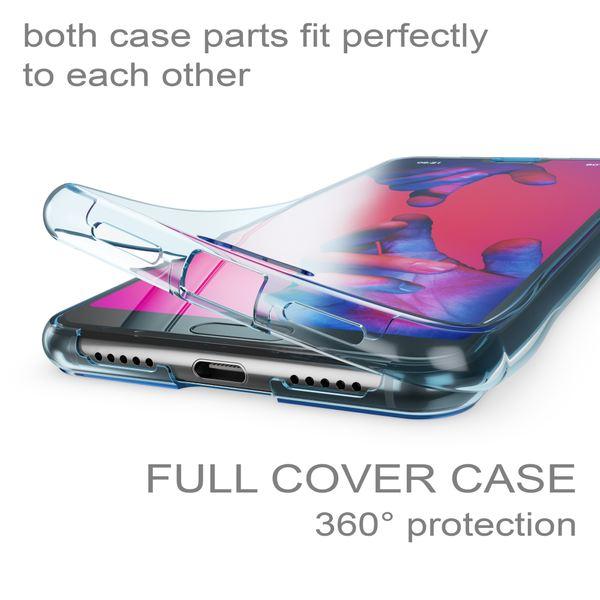 NALIA Glitzer Hülle 360 Grad kompatibel mit Huawei P20 Pro, Handyhülle Full Cover vorne hinten Glitter Doppel-Schutz, Ganzkörper Case Silikon Etui Dünn, Transparenter Displayschutz – Bild 10