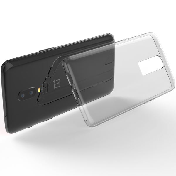NALIA Hülle kompatibel mit OnePlus 6, Soft Slim Handyhülle TPU Silikon Case Cover Crystal Clear Schutz-Hülle Dünn Durchsichtig, Etui Handy-Tasche Backcover Transparent Rückseite, Phone Bumper – Bild 3