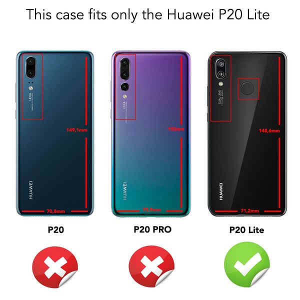 NALIA Hülle kompatibel mit Huawei P20 Lite, Ultra-Slim Handyhülle Soft Silikon Case, Dünne Carbon Look Schutzhülle, Etui Handy-Tasche Back-Cover Bumper, TPU Smart-Phone Gummihülle – Bild 5