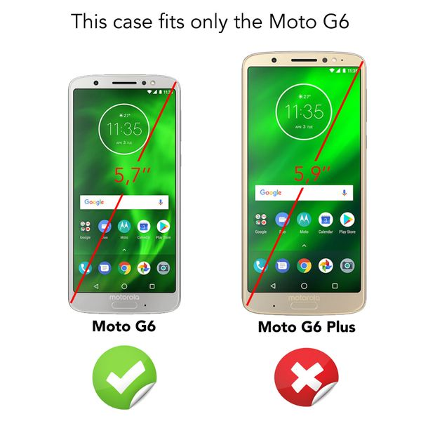 NALIA Hülle kompatibel mit Motorola Moto G6, Handyhülle Soft Slim TPU Silikon Case Cover Crystal Clear Schutz-hülle Dünn Durchsichtig, Back Etui Handy-Tasche Transparent, Smart-Phone Bumper – Bild 4