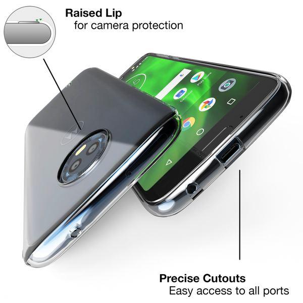 NALIA Hülle kompatibel mit Motorola Moto G6, Handyhülle Soft Slim TPU Silikon Case Cover Crystal Clear Schutz-hülle Dünn Durchsichtig, Back Etui Handy-Tasche Transparent, Smart-Phone Bumper – Bild 3