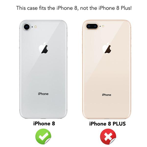 NALIA Hülle kompatibel mit iPhone 8, Glitzer Handyhülle Ultra-Slim Silikon-Case Back-Cover Schutzhülle, Glitter Sparkle Handy-Tasche Bumper, Dünnes Bling Strass Etui – Bild 5