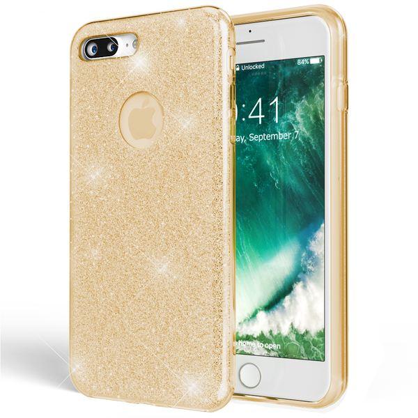 NALIA Handyhülle kompatibel mit iPhone 8 Plus, Glitzer Hülle Ultra-Slim Silikon Case Cover Schutzhülle, Glitter Sparkle Handy-Tasche Bumper, Dünnes Bling Strass Etui – Bild 16