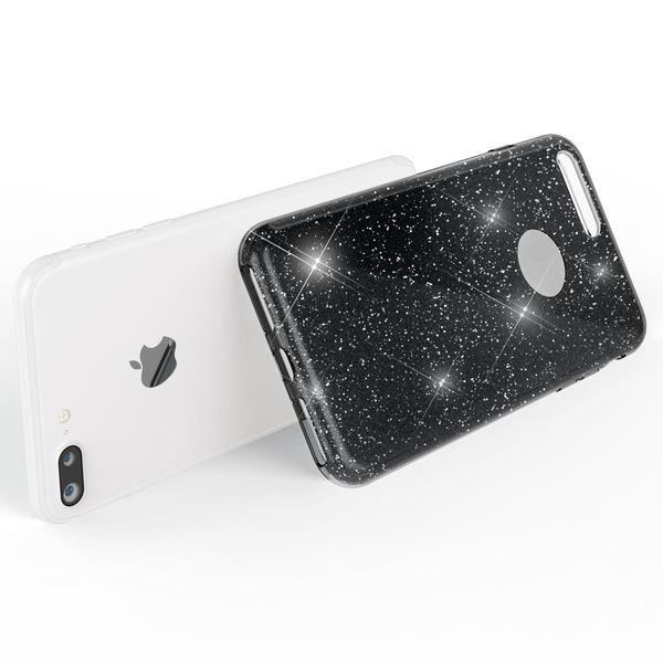 NALIA Handyhülle kompatibel mit iPhone 8 Plus, Glitzer Hülle Ultra-Slim Silikon Case Cover Schutzhülle, Glitter Sparkle Handy-Tasche Bumper, Dünnes Bling Strass Etui – Bild 7