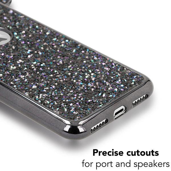 NALIA Hülle für iPhone X XS, Handyhülle Glitzer Slim Back-Cover Case Maus Ohren, Glitter Silikonhülle Schutz Dünnes Strass Bling Etui, Handy-Tasche Bumper für Apple i-Phone XS X – Bild 11