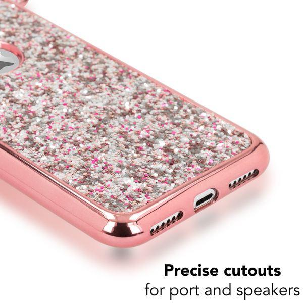 NALIA Hülle für iPhone X XS, Handyhülle Glitzer Slim Back-Cover Case Maus Ohren, Glitter Silikonhülle Schutz Dünnes Strass Bling Etui, Handy-Tasche Bumper für Apple i-Phone XS X – Bild 5