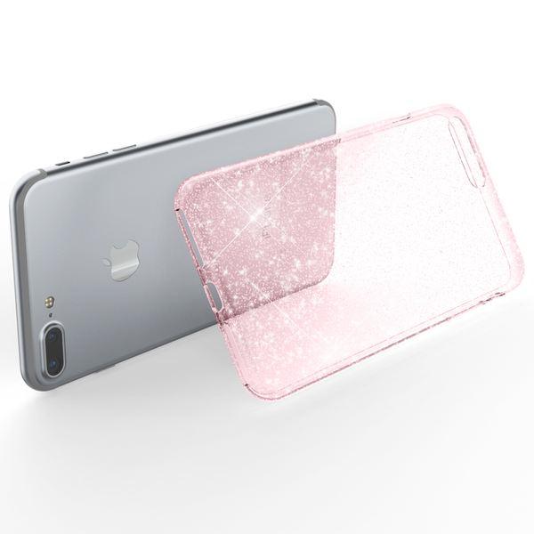 NALIA Handyhülle kompatibel mit iPhone 8 Plus / 7 Plus, Glitzer Cover Hülle Ultra-Slim Transparent Silikon Case Backcover Schutzhülle, Glitter Bumper, Dünn Bling Etui – Bild 9