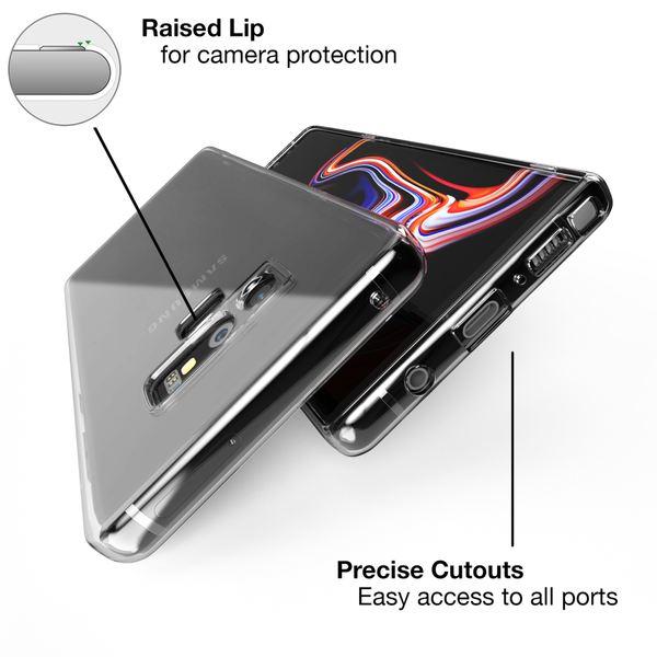 NALIA Handyhülle kompatibel mit Samsung Galaxy Note 9, Soft TPU Hülle Silikon Case Cover Crystal Clear, Dünne Durchsichtige Etui Handy-Taschen Schutzhülle, Transparent Phone Back-Cover Bumper – Bild 3
