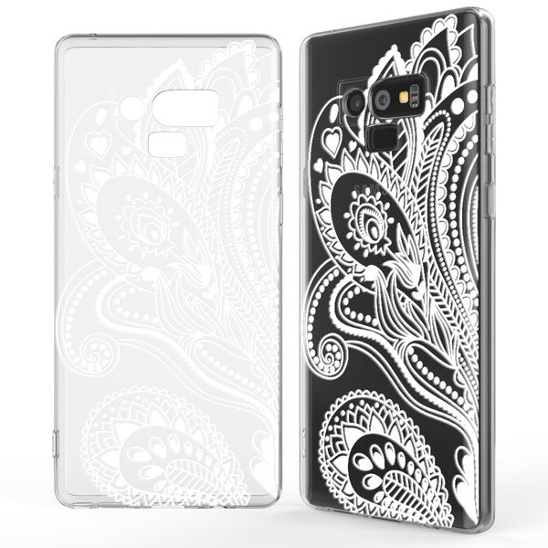 NALIA Hülle kompatibel mit Samsung Galaxy Note 9, Slim Handyhülle Motiv Silikon Case Cover Crystal Schutzhülle Dünn, Muster Etui Handy-Tasche Backcover Phone Bumper – Bild 4