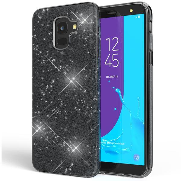 NALIA Handyhülle kompatibel mit Samsung Galaxy J6, Hülle Glitzer Ultra-Slim Silikon Case Cover Schutzhülle, Glitter Sparkle Handy-Tasche Bumper, Dünnes Bling Strass Phone Etui – Bild 2
