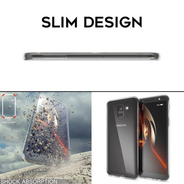 NALIA 360 Grad Handyhülle kompatibel mit Samsung Galaxy J6, Hülle Full Cover vorne & hinten Doppel-Schutz, Dünnes Ganzkörper Case Silikon, Transparenter Displayschutz & Rückseite  – Bild 13