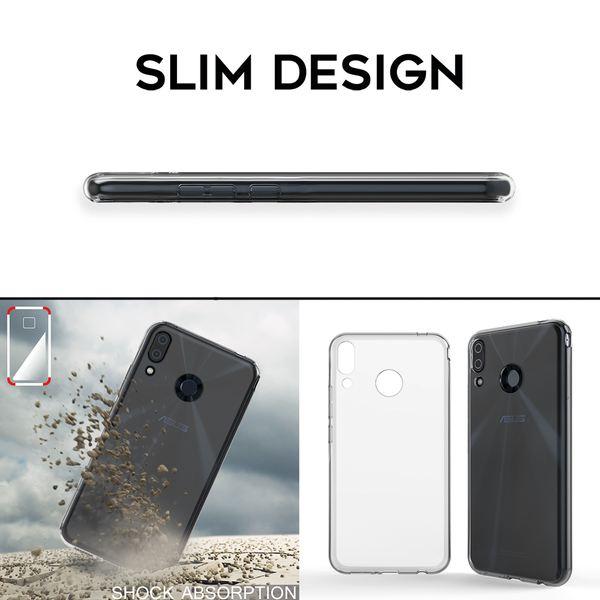 NALIA Hülle kompatibel mit Asus ZenFone 5 / 5Z, Soft TPU Silikon Handyhülle Case Cover Crystal Clear, Dünne Durchsichtige Etui Handy-Taschen Schutzhülle, Transparent Phone Back-Cover Bumper – Bild 6