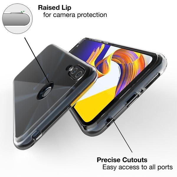 NALIA Hülle für Asus ZenFone 5 / 5Z, Soft TPU Silikon Handyhülle Case Cover Crystal Clear, Dünne Durchsichtige Etui Handy-Taschen Schutzhülle, Transparent Phone Back-Cover Bumper für ZenFone 5 / 5Z – Bild 2