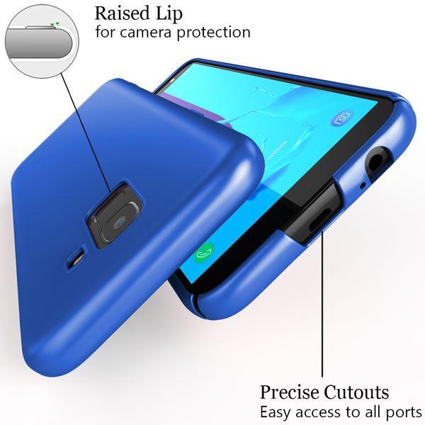 NALIA Handyhülle kompatibel mit Samsung Galaxy J6, Hülle Dünne Leichte Matt Hardcase Case Schutzhülle, Ultra-Slim Cover Etui Handy-Tasche, Smart-Phone Backcover Skin Bumper – Bild 10