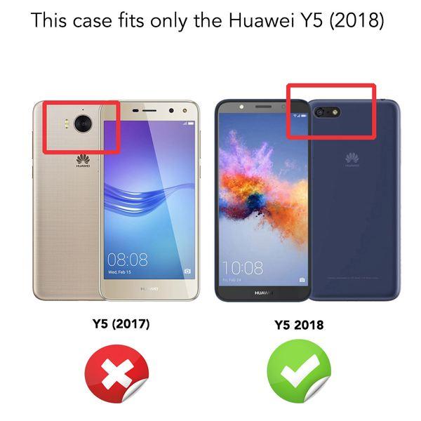 NALIA Handyhülle kompatibel mit Huawei Y5 2018, Soft Hülle TPU Silikon Case Cover Crystal Clear, Dünne Durchsichtige Etui Handy-Tasche Schutzhülle, Transparent Smart-Phone Cover Schutz Bumper – Bild 5
